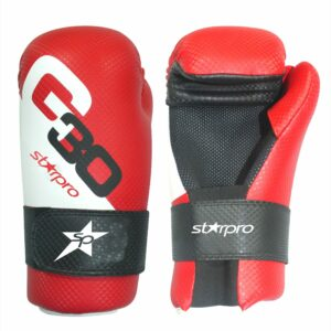 Semi-contact bokshandschoenen Starpro | rood-wit-zwart