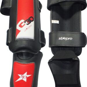 Scheen/wreefbeschermers Pro Starpro G30 | rood-zwart