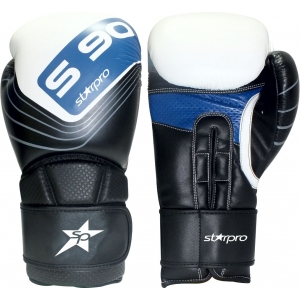 Bokshandschoen Starpro S90 training boxing glove | zwart-wit