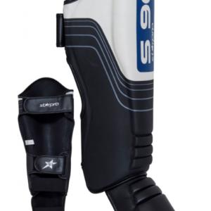 Scheen/wreefbeschermers Starpro S90 | zwart-wit-blauw