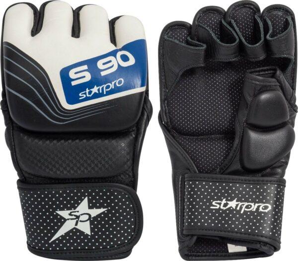 MMA-sparringhandschoenen Starpro S90 | zwart-wit-blauw