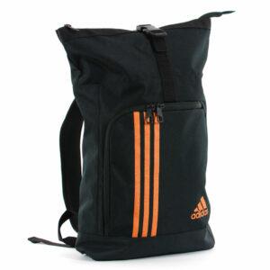 Adidas sporttas en rugzak | zwart met oranje logo