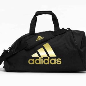 Adidas sporttas en rugzak ineen | zwart en goudkleurig logo