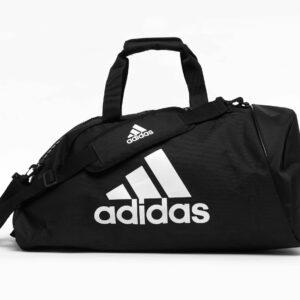 Adidas sporttas met schouderriem | zwart-wit