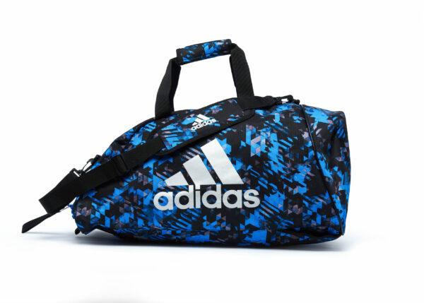 Adidas sporttas en rugzak   blauw-zwarte camoprint