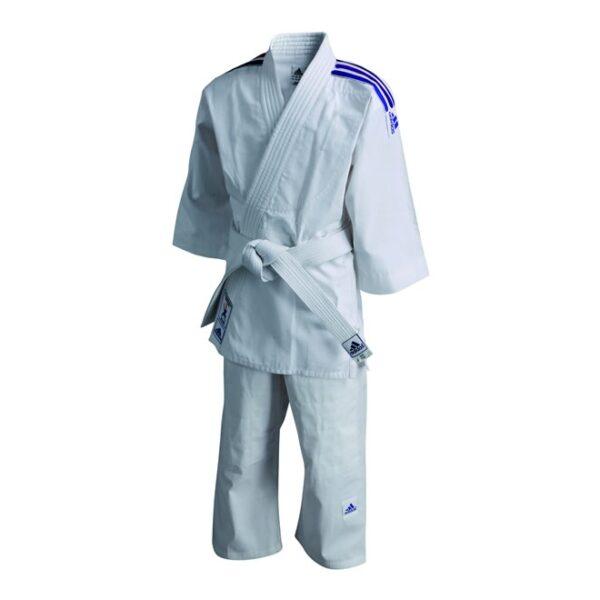 Judopak Adidas voor kinderen   meegroeipak J200   wit