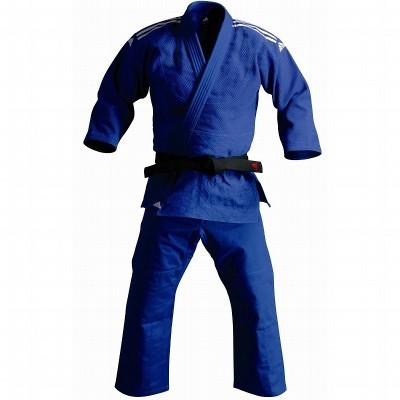 Judopak Adidas voor tieners en recreanten   J500   blauw