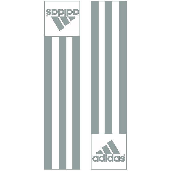 Adidas-schouderlabels voor je judopak   grijs
