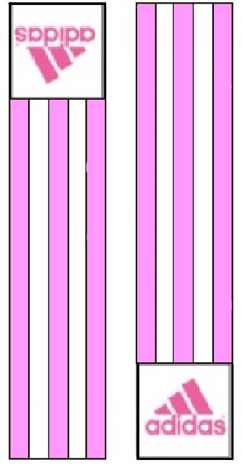 Adidas-schouderlabels voor judopak   roze