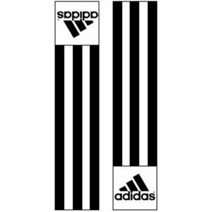 Adidas-schouderlabels voor je judopak | zwart