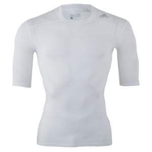Compressie-shirt Adidas | korte mouwen | wit