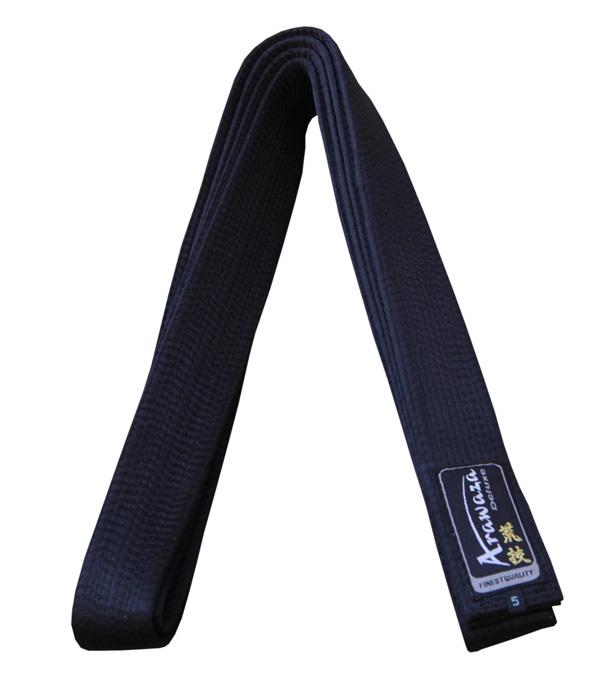 Karateband deluxe Arawaza   zwart