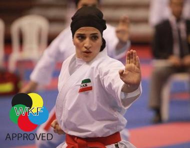 Karate-hijab (WKF-approved) Arawaza   zwart