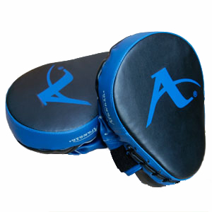 Karate-focushandschoen (precisie-mitt) Arawaza   zwart-blauw