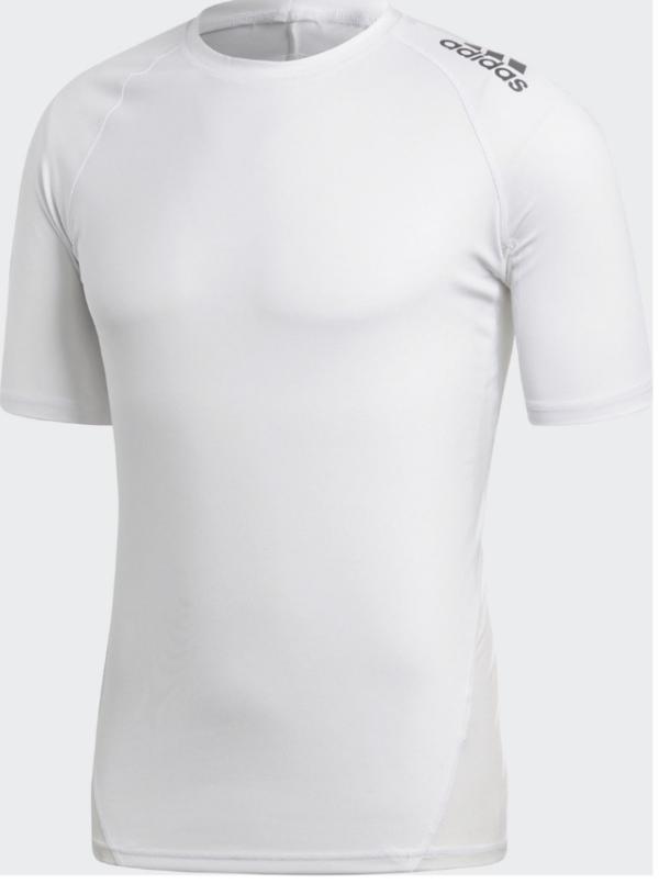 Adidas Alphaskin tee voor mannen   korte mouwen   wit