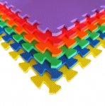 Set van 6 kleurrijke speel- en puzzelmatten |Tatamix | 1 cm