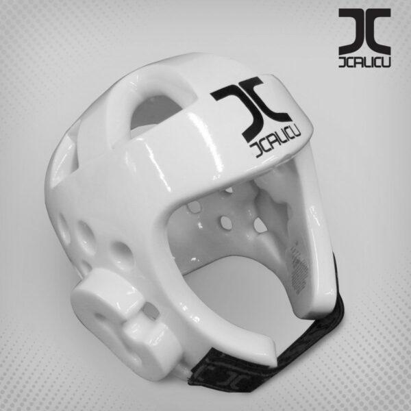 Taekwondo-hoofdbeschermer JCalicu   WT-goedgekeurd   wit