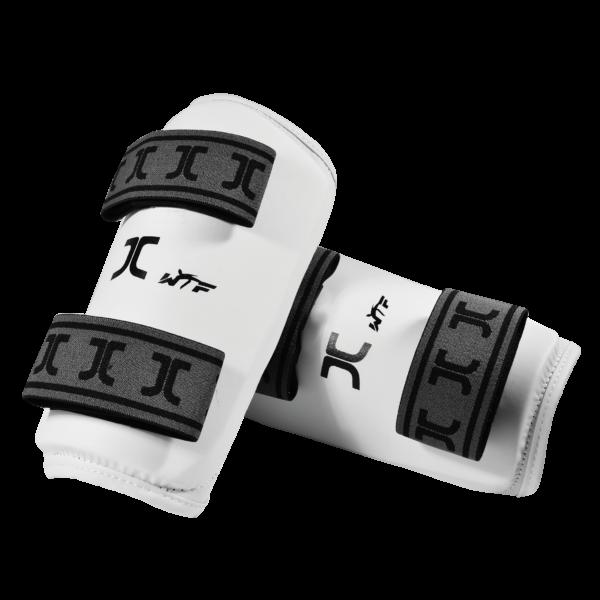 Taekwondo-onderarm-beschermers JCalicu   WT   wit