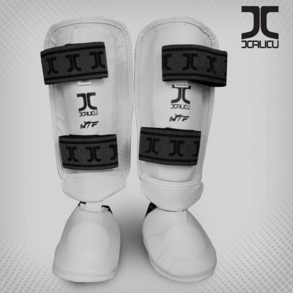 Taekwondo-scheen/wreef-beschermers JCalicu | WT | wit