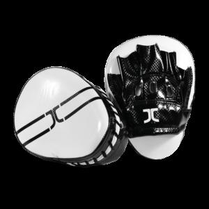 Taekwondo focus-handschoen (curved mitt) JCalicu | zwart-wit