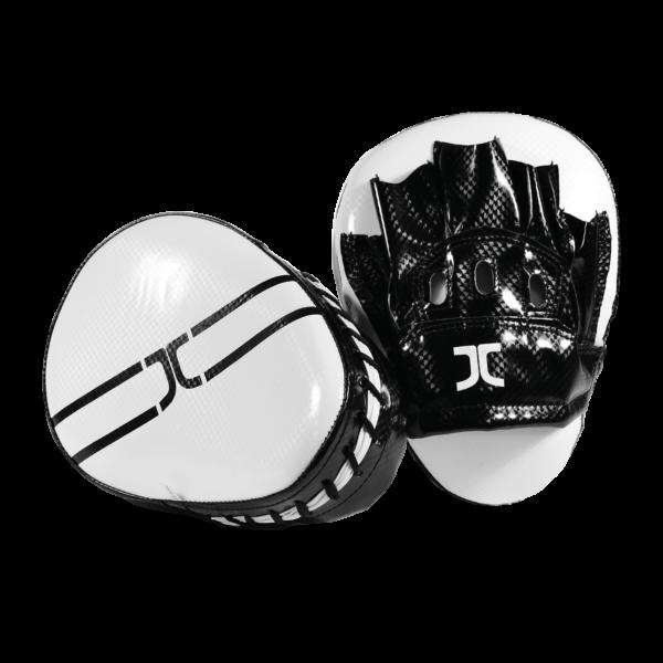 Taekwondo focus-handschoen (curved mitt) JCalicu   zwart-wit