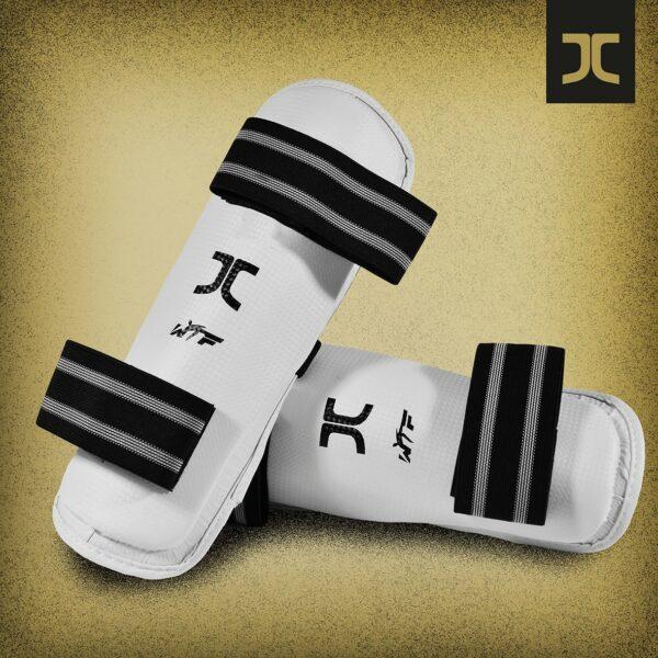 Taekwondo-scheenbeschermers JC-Club   WT   wit