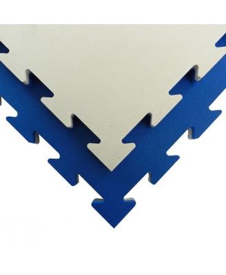 Veerkrachtige puzzelmat Tatamix | EVA | blauw-wit  | 3 cm