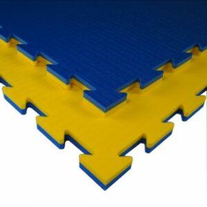 Martial arts- gym- of speelmat Tatamix | 2 cm | geel-blauw