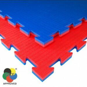 Puzzelmat voor karate Tatamix | WKF | 2 cm | rood-blauw
