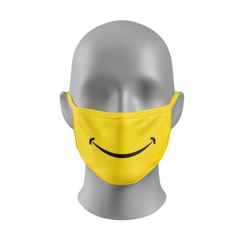 Mondmasker (herbruikbaar) Nihon   smiley-print   geel-zwart