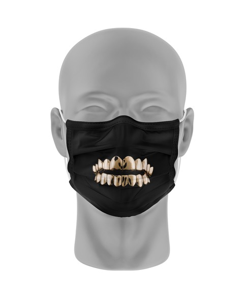 Mondmasker (herbruikbaar) Nihon | rottende-tanden-print