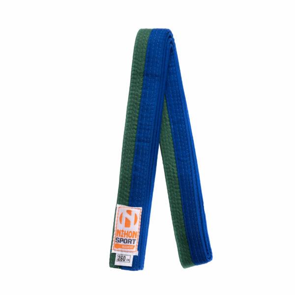 Tweekleurige judo- en karatebanden Nihon | groen-blauw | 280