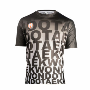 Sneldrogend sportshirt TAEKWONDO Nihon | zwart-grijs