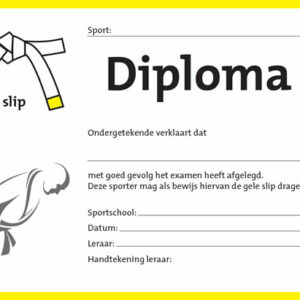 Diploma Wit/Geel