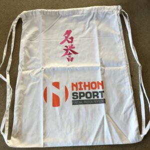 Rugzak Nihon Meiyo | wit met roze opdruk