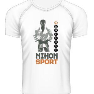 Sneldrogend sportshirt JUDOKA Nihon | wit