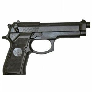 Rubberen oefen-pistool voor vechtsport | zwart