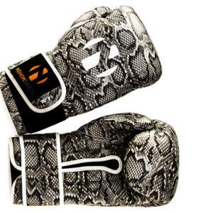 Bokshandschoenen Snake Nihon | slangenprint & witte details