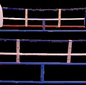 Opvouwbare boksring op wieltjes | 6 x 6 meter