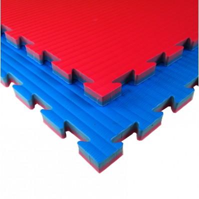 Karate- en taekwondopuzzelmat Tatamix | blauw-rood | 2