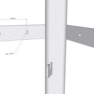 Muurbevestigingshoek Stedyx | wall mount corner