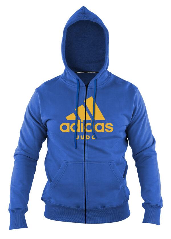 Adidas-hoody met rits   blauw-oranje