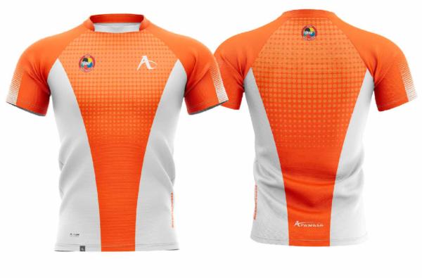 T-shirt Arawaza | dry-fit | oranje-wit