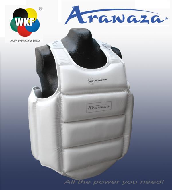 Bodyprotector voor karate Arawaza   U14 WKF   wit