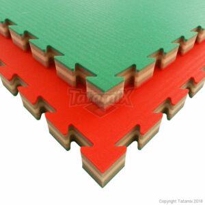 J40S XPE 100x100x4 cm zacht Ptrn Rijst Stro Rood Wit Groen