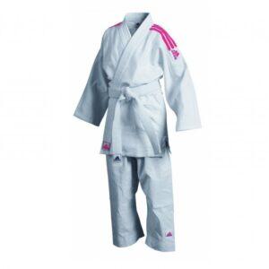 Judopak Adidas voor beginners & kinderen | J350 | wit-roze