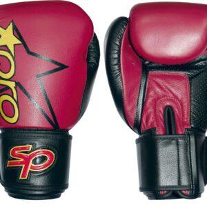 Bokshandschoen Starpro pro sparring glove | rood-zwart
