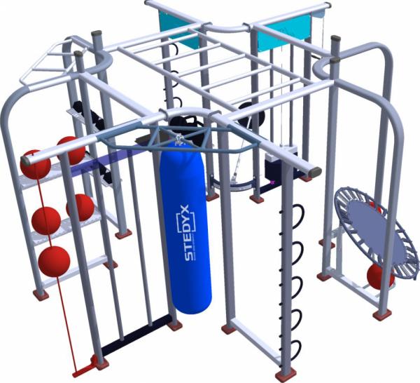 Fitness-station Stedyx | 4 x 4 meter