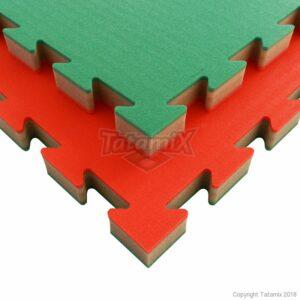 J30S XPE 100x100x3cm patroon: Rijst/Stro  Rood Grijs Groen