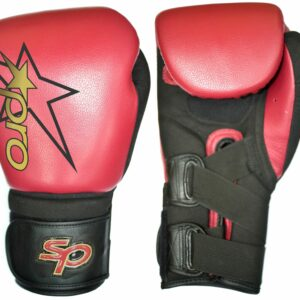 Bokshandschoen Starpro secure-fit training glove |rood-zwart